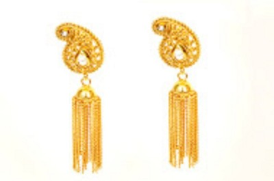 Bejeweled Fusion Brass Drop Earring