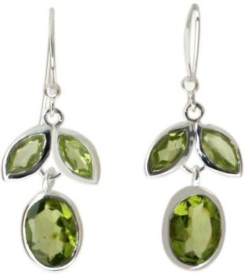 Aabhushan Aabhushajewels Peridot Sterling Silver Dangle Earring