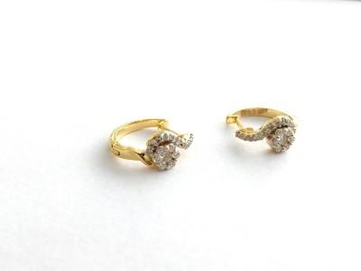 Arkina Diamonds Semi Colon Promise Yellow Gold 18kt Diamond Stud Earring