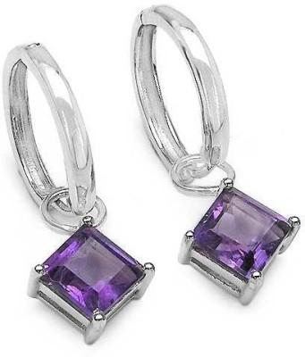 Johareez Motif Amethyst Sterling Silver Clip-on Earring