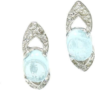 Angel Jewels Spring Sparkle Aquamarine Silver Stud Earring