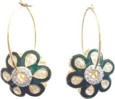 Midas Fashion Cubic Zirconia Alloy Hoop Earring