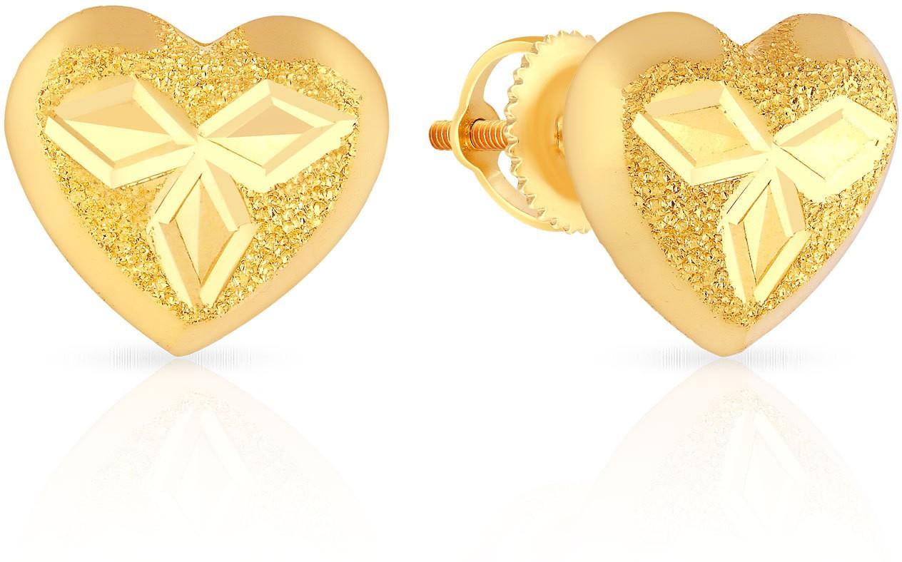 malabar gold and diamonds mhaaaaaavcrc 22 k gold stud earring in