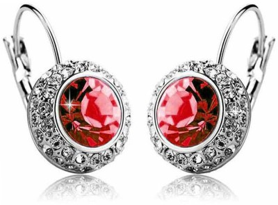 ArietteJewels Nature Earrings - Red-Silver Copper Hoop Earring