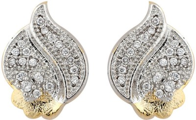 Aanjaneys Indian Ethnics Stylist Brass Stud Earring