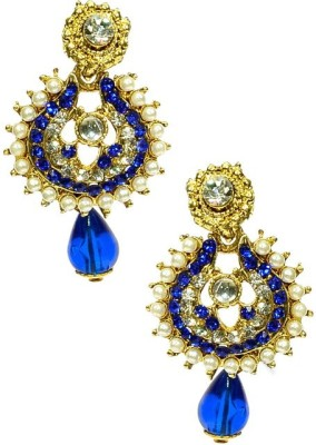 Shine My Life Blossom Alloy Chandbali Earring
