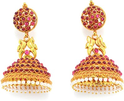 Multiline Company Gold Polished Copper Jhumki Earring