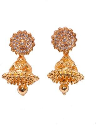 PFJ PFJ3049-EARRING Cubic Zirconia Brass, Copper Jhumki Earring