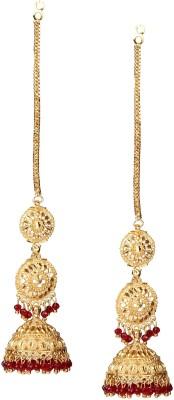Giftmania RED JHUMKI EARRING Pearl Brass Jhumki Earring