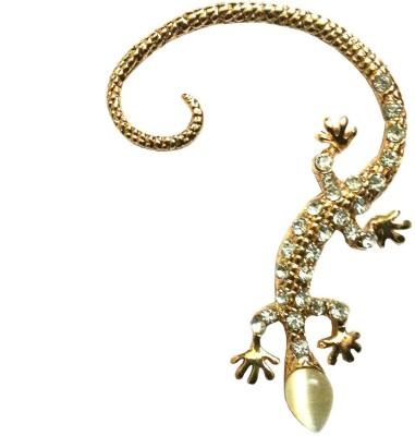 FashionFundamentals Lizard Alloy Cuff Earring