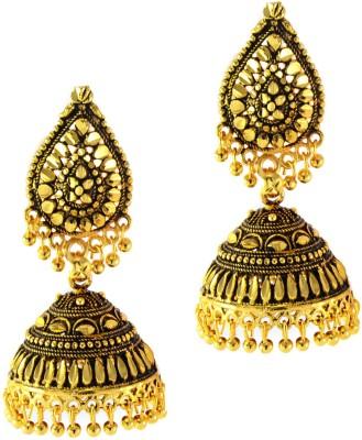 imillery imillery antique gold jhumka earrings Alloy Jhumki Earring