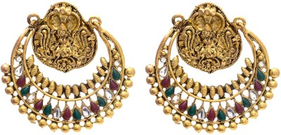 My Sara Dangler For Girls In Multicolor In Copper Cubic Zirconia Brass, Copper Dangle Earring