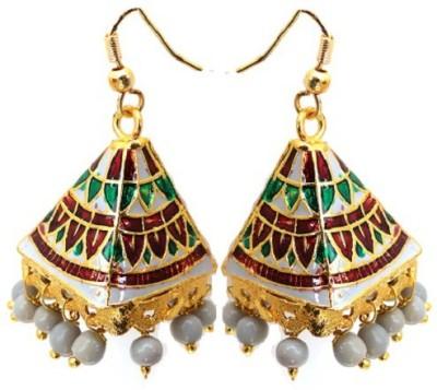 Kalaplanet Thewa Pyramid Design Alloy Dangle Earring