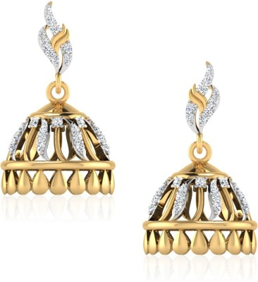 IskiUski The Felicity Swarovski Crystal Gold Jhumki Earring at flipkart
