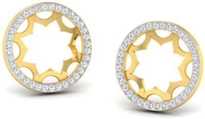 Sparkles Diamond TOPS Yellow Gold 18kt Diamond Stud Earring