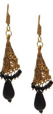 SB Fashions copper jhumki with black beads Brass Jhumki Earring