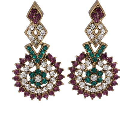 Maisha Red White and Green layer Alloy Drop Earring
