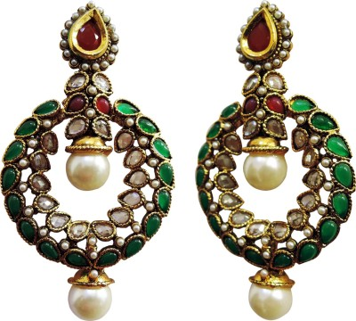 Yogada Ethnic004 Alloy Chandbali Earring