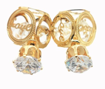 Brandmeup Love Crystal Alloy Stud Earring