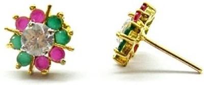 E-Designs TOP76GJ031-275 Cubic Zirconia Brass Stud Earring