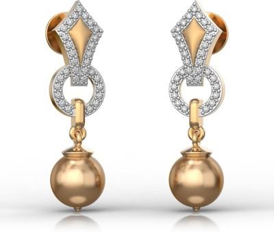 I Love Diamonds Kings Drop Earrings Pearl Yellow Gold Stud Earring