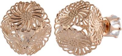 Golden Petals Sparkle B Alloy Stud Earring