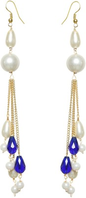 99HomeMart Spring Sparkle Pearl Metal Drop Earring