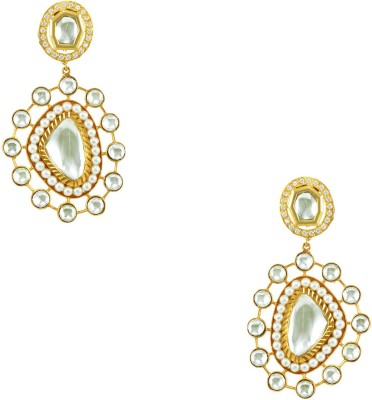 Orniza Designer Fashion Brass Dangle Earring at flipkart