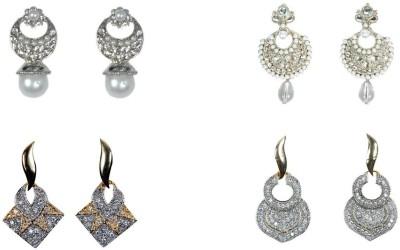 Rashi Jewellery Just Like Diamond Brass Earring Set