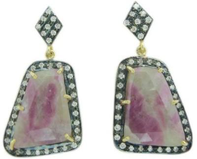 The Gems Gallery TGG-EAR-8555049851163-Multicolor Silver Drop Earring