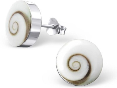 Maayin Silver Swirl Silver Stud Earring