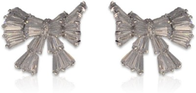 Swanvi Crystal Bow Alloy Stud Earring