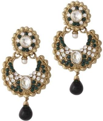 Variation Kundan Diamond Crystal Alloy Drop Earring