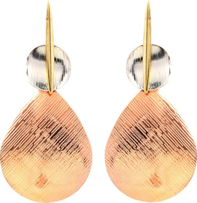Jewel Funk Silver and Bronze coloured Abstract earrings Alloy Drop Earring
