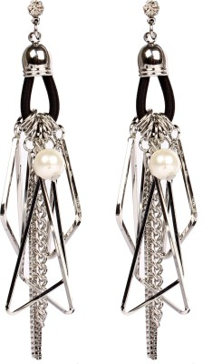 Divitha Allure Fashionabe hanging chains, pearls from Divitha Allure. Alloy Stud Earring