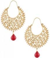 The Jewel Box Filigree Chaand Red Bali Copper Hoop Earring best price on Flipkart @ Rs. 525