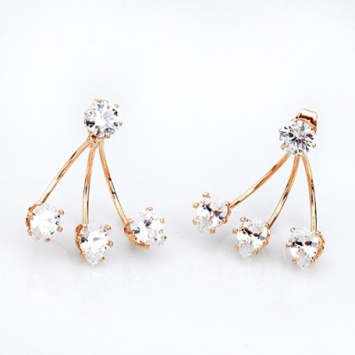 The Sparkle Connection Heartstrings Cubic Zirconia Alloy Drop Earring