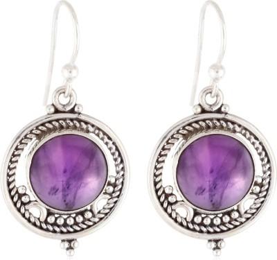 Aarohee Purple Power Amethyst Sterling Silver Dangle Earring