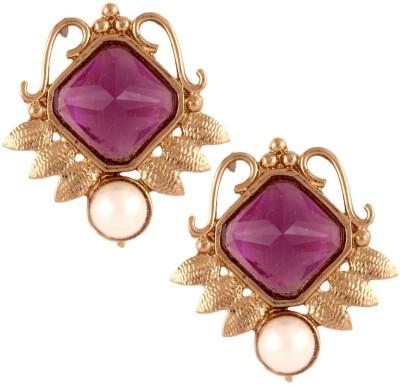 the jewelbox Victorian Filigree Crystal Copper Stud Earring