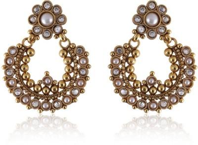 Vastradi Chandbali Brass, Alloy Dangle Earring