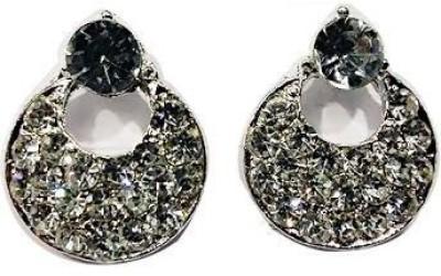VML VML Silver with White Stone Earring Alloy Stud Earring