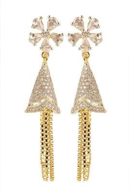 Rays SJM22 Zircon Copper Tassel Earring