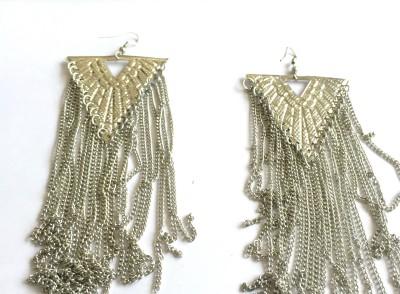 Arkina Diamonds Silver Dangling Brass Dangle Earring