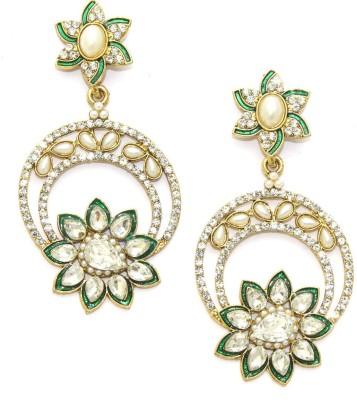 Aarnaa Cz Ad Alloy Drop Earring