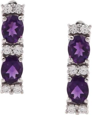 RR FOREVER Gemstone Amethyst Silver Dangle Earring