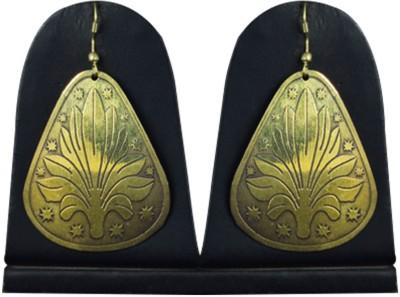 Paradise Earring Brass Drop Earring
