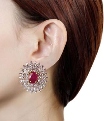 Prisha PPIPLCZER76 Zircon Copper Stud Earring