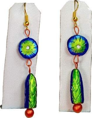 Retaaz Nartaka Karnika Terracotta Ceramic Dangle Earring