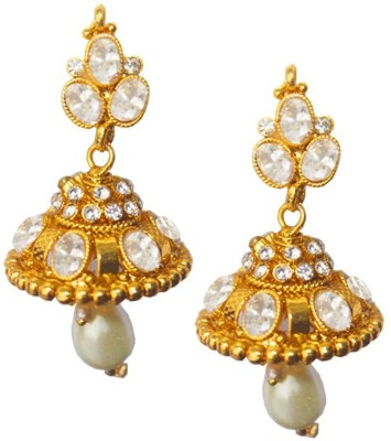 Rich & Famous Elegant Traditional Indian Jhumki Fashion Alloy Stud Earring