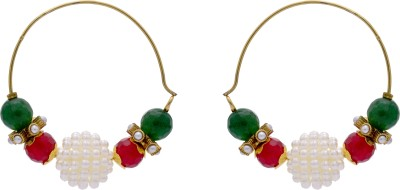 Pearls Cart Antique Alloy Hoop Earring